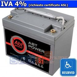 Batteria a Gel Abt Power 12V 33AH (IVA 4%)